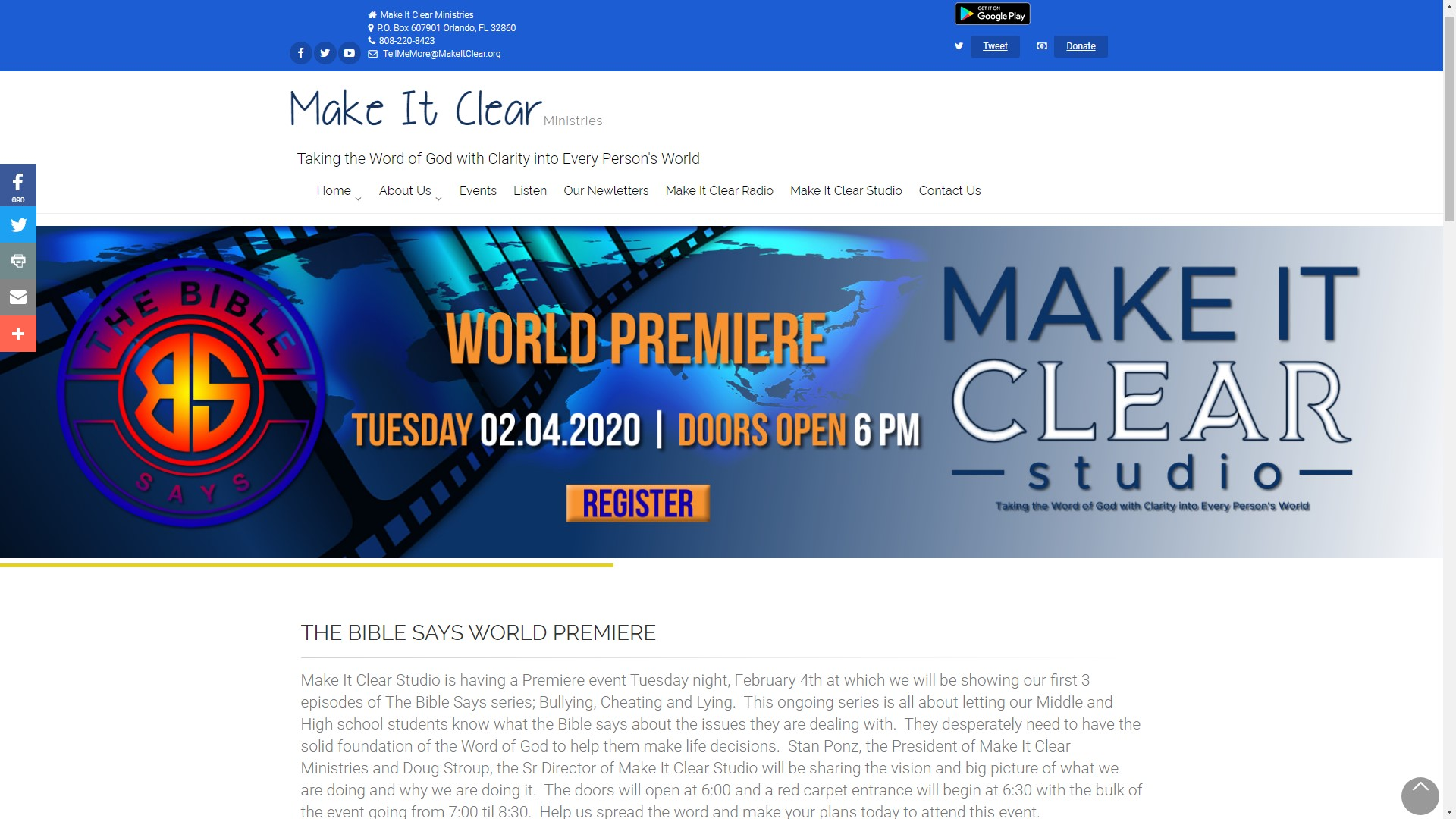 Make It Clear Ministries